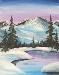 White Mountains at Two Three Zero - Paint Nite Events near Somerville, MA>