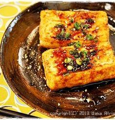 簡単■ピリ辛お豆腐ステーキ■TVご紹介レシピ♪(o'∀'o)