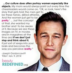 Joseph Gordon-Levitt: You don't have to be female to be feminist. <3 him even more now!