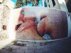 The Gothic Quarter Barcelona Street, Stencils, The Neighbourhood, Graffiti, Street Art, Mosaic, Kiss, Decor, The Neighborhood