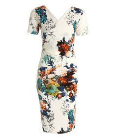 Love this Blue Floral Cora Dress by The Jersey Dress Company on #zulily! #zulilyfinds