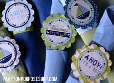 Ahoy It's a Boy Nautical Baby Shower Decorations  - Cutlery Sets