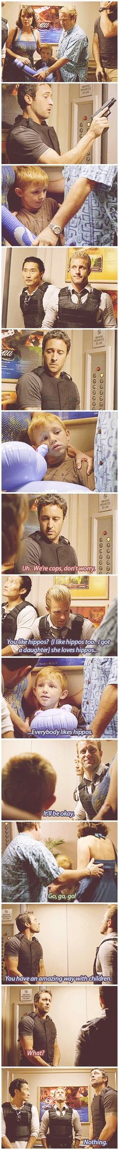 #HawaiiFive0 And that is why Steve isn't taking the elevator on missions any more....