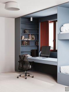 Study Room Design, Kitchen Room Design, Kids Room Design, Modern Home Interior Design, Interior Architecture, Wardrobe Room, Kids Bedroom Designs, Modern Farmhouse Bathroom, House Blueprints