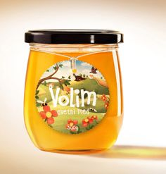 Volim Honey, packaging for a small local honey producer from Serbia, Designed by Kitchen