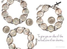 Youll cherish this beautiful silver plated metal and glass bracelet featuring words from the classic hymn, Amazing Grace, along with the accompanying Bible verse—Ephesians 2:8—on eight charms:  The Lord has promised good to me, His word my hope secures; He will my shield and portion be, As long as life endures. Amazing Grace! How sweet the sound That saved a wretch like me! I once was lost but now am found; Was blind, but now I see.  For by grace you are saved through faith, and that not of…