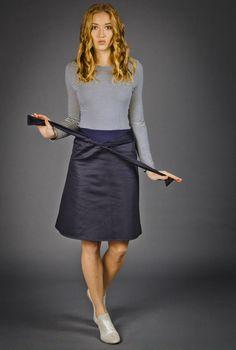 Knielange Kleider - Kleid  Paula  - ein Designerstück von kirsch-gruen bei DaWanda