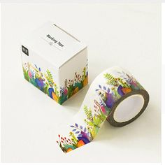 New Wide Blooming Flowers Plants Washi Tape Adhesive Tape DIY Diary Decorative Scrapbooking Sticker Label Masking Tape Cute School Supplies, Office And School Supplies, Washi Tape Crafts, Japanese Stationery, Decorative Tape, Scotch, Diy Flowers, Flower Diy, Blooming Flowers