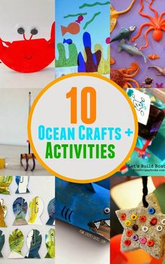 10 Ocean themed Activities for Preschool kids and a list of ocean-themed storybook ideas