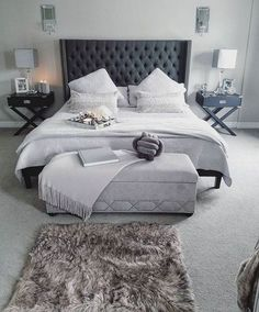 17 Amazing Master Bedroom Ideas You Are Dreaming Of. If you are looking for Master Bedroom Ideas You Are Dreaming Of, You come to the right place. Bedding Master Bedroom, Master Bedroom Bathroom, Cozy Bedroom, Bedroom Sets, Bedroom Curtains, Stylish Bedroom, Bedroom Wardrobe, Small Bedroom Designs, Modern Bedroom Design