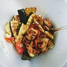 Mieszanko: Grillowane warzywa z indykiem