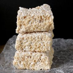 These Coconut Oil Rice Crispy Treats are easy, quick, and so delicious! A dairy free version of the classic treat that you are guaranteed to love! Rice Crispy (or Krispy) Treats were a favorite of mine growing up. I'm thinking my mom made them a lot because they are so easy. No baking, only a