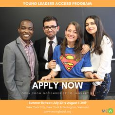 Miracle Corners of the World is now accepting applications for 2019 Young Leaders Access Program USA. MCW Global 2019 YLA is a year long program Young Leaders, Great Leaders, Positive Changes, Leadership Programs, Summer School, Programming, Trains, Youth, How To Apply
