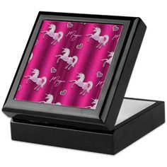Dancing Pink Unicorns Keepsake Box by Graphic_Allusions - CafePress Unicorn Crafts, Unicorn Art, Unicorn Birthday Parties, Birthday Party Invitations, Unicorn Foods, Keepsake Boxes, Box Design, Unicorns, Dancing