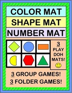 Add a 'steady beat' with games for 12 COLORS, 12 SHAPES, and NUMBERS 1-12!  Have fun with 3 different PLAY-DOH MATS.  Make 3 FOLDER GAMES for your Centers.  Play a funny GROUP GAME, using the mats as game boards!  Sing an easy SONG with a familiar tune. MULTI-SENSORY ACTIVITY PACKET from Joyful Noises Express TpT! $