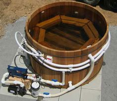 red cedar hot tub and decking - Google Search