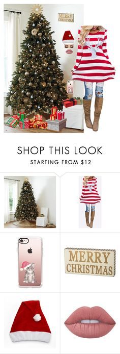 """""""Merry Christmas"""" by smilygirlcn ❤ liked on Polyvore featuring Ballard Designs, Casetify and Lime Crime"""
