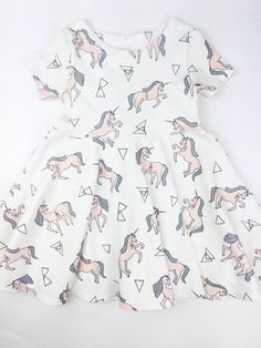 Baby Girl Dress, Baby Dress, Girls Dress, Baby Girl Clothes, Newborn Baby Clothes, Toddler Dress, Birthday Dress, Baby Shower Gift, Unicorn by Markovah on Etsy https://www.etsy.com/listing/271329111/baby-girl-dress-baby-dress-girls-dress