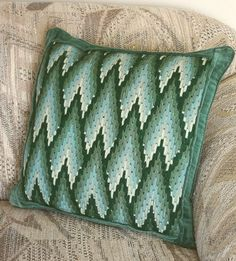Evergreen Forest Bargello Pillow Cover by AnnakesGarden on Etsy