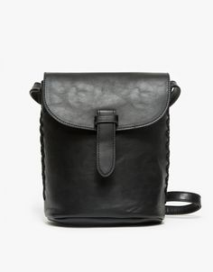 A vintage inspired faux leather bag with side lace detail and tall  rectangle silhouette. Features adjustable shoulder strap 99089517a3616
