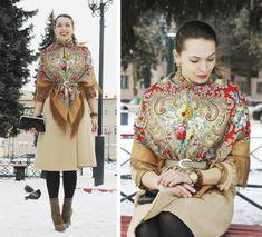 Gallery.ru / Фото #57 - Как носить павловопосадские платки. - Vanilina