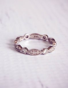 Perfect vintage wedding band! Would go perfect with the ring i picked out. only without the pave