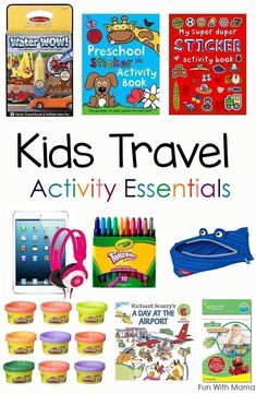 Are you going on a family vacation soon and trying to figure out some ideas and things that the kids can do so that they wont get bored? You need to create a DIY kids travel kit. This packing list contains toddler and Preschool Kids Travel Activities are Road Trip With Kids, Travel With Kids, Smash Book, Kids Travel Activities, Learning Activities, Kids Learning, Toddler Airplane Activities, Sydney Activities, Road Trip Activities