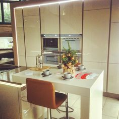 #germankitchen #nobilia interior design, kitchens based in Kirkintilloch, Glasgow #Christmastree #smeg kitchenappliance, bar stool