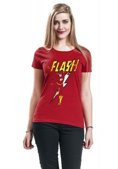 """Maglietta donna """"Distressed Strike"""" di The Flash."""