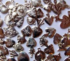 Mexican Milagro Heart Charms