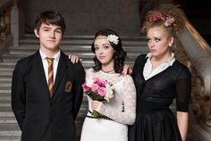 Waterloo Road Kevin Imogen and Dynasty Waterloo Road, Coronation Street, Bridesmaid Dresses, Wedding Dresses, Actors & Actresses, Lilac, Soaps, Bbc, Bridal Dresses