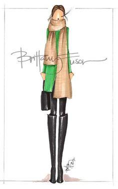awesome Brittany Fuson, Fashion Illustration... Briitany Fuson fashion sketches Check more at http://pinfashion.top/pin/38791/
