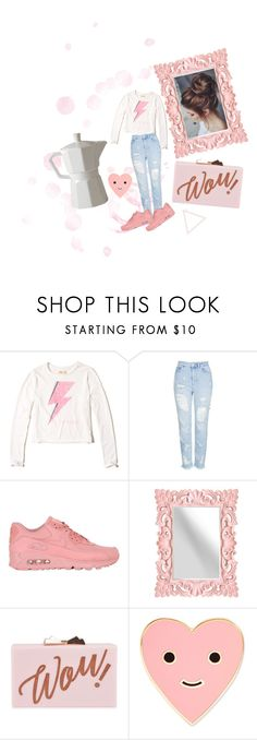 """Untitled #5"" by stefaniapx ❤ liked on Polyvore featuring Hollister Co., Topshop, NIKE, Ted Baker, ban.do and Holly's House"