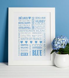 Personalised 'Loves' Print from notonthehighstreet.com