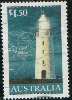 Cape Bruny Lighthouse, Tasmania.  Australian  post stamp, circa 2002