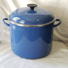 LE CREUSET Large Blue Enameled Steel 16 Quart QT Stock Pot With Lid | Home & Garden, Kitchen, Dining & Bar, Cookware | eBay!