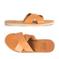 Caramel Leather Crossover Slide Sandal | Sseko Designs