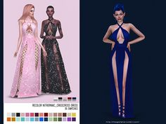The Sims 4 helgatisha Recolor NitroPanic CrissCross Dress - Mesh needed Sims Four, Sims 4 Mm, Sims 4 Black Hair, Pelo Sims, Sims 4 Gameplay, Sims 4 Dresses, Sims4 Clothes, Sims 4 Toddler, Sims 4 Cc Finds