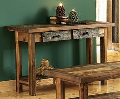 Cabela's Mountain Woods Furniture Wyoming Collection Sofa Table  $1199.99