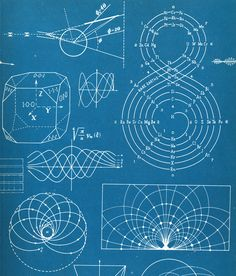 End paper design from Our Friend the Atom, Disney, 1956