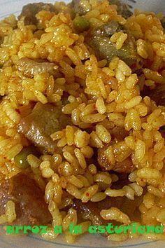 Arroz a la asturiana Rice Recipes, Mexican Food Recipes, Cooking Recipes, Healthy Recipes, Rissoto, Puerto Rico Food, Spanish Dishes, Colombian Food, Polenta