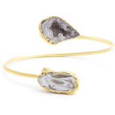 Sole Society Natural Agate Bracelet ($55) ❤ liked on Polyvore featuring jewelry, bracelets, purple, agate bangle, purple jewelry, hinged cuff bracelet, druzy jewelry and cuff bracelet