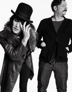 Noel Fielding and Julian Barratt, Man, you don't even have to get a closeup to get a glorious shot of THAT nose of Noel's, do you? Julian Barratt, Mighty Mighty, The Mighty Boosh, Noel Fielding, Dave Brown, Through Time And Space, Penny Dreadful, My People, To My Future Husband