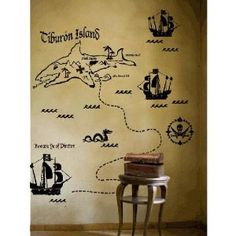 Pirate wall decal.