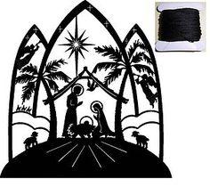 NATIVITY SILHOUETTE Cross Stitch Chart + 8M DMC Thread + FREE P | eBay