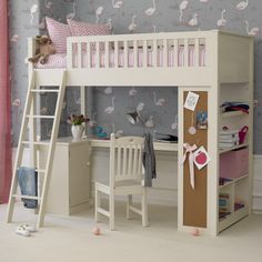 Boys and girls bedroom furniture. A beautifully hand crafted range of kids bedroom sets designed for the safety and comfort of your children. Girls Cabin Bed, Cabin Beds For Kids, Cabin Bunk Beds, Bedroom For Girls Kids, Childrens Bunk Beds, High Sleeper Bed, Bunk Bed With Desk, Cabin Bed With Desk, Bunk Bed Designs