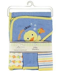 "Baby Starters ""Squeaky Clean"" 4-Piece Bath Set - CookiesKids.com"