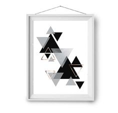 Scandinavian Print Abstract Poster Geometric Art Black