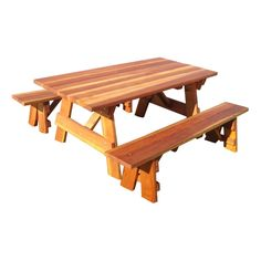 Best Redwood Outdoor Farmers Picnic Table and Benches - Memories are made around the family dinner table. The Best Redwood Outdoor Farmer's Picnic Table and Benches moves that tradition outside. This ha...