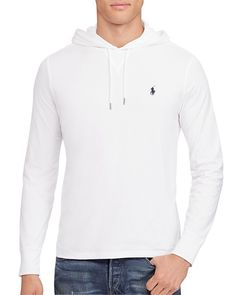 Polo Ralph Lauren Featherweight Pima Cotton Hoodie Tee White $109 FREE SHIPPING OR PICK UP